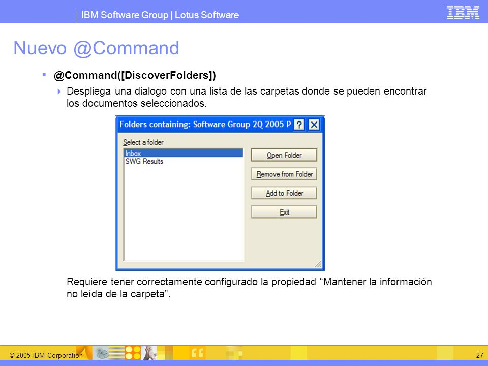 Nuevo @Command @Command([DiscoverFolders])